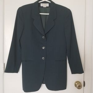 Long Length Single Breasted Wool Jacket / Blazer